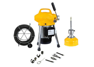 China Max 4 Inch Pipe Electric Drain Cleaning Machine 30 M For Household And Construction Site factory